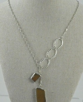 Beach Glass Necklace - Amber