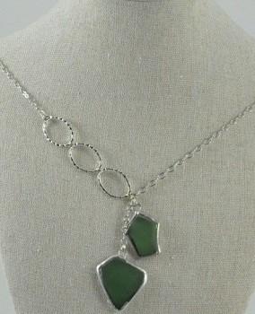 Beach Glass Necklace-Lt. Green