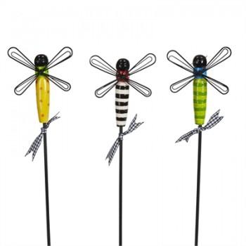 "Dragonflies 12"" Plant Pokes"