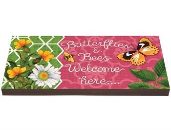 Butterflies and Bees Garden Art Paver