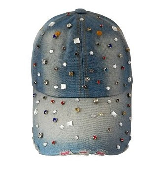 Multi-colored Denim Stone Cap