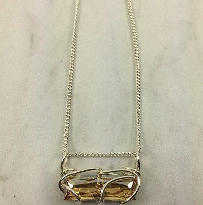 Bar Slide Necklace - Silver-Champ