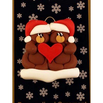 Bear Couple Ornament