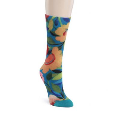 Mid Calf socks-French Garden