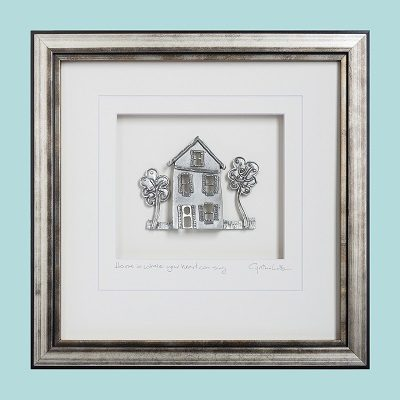Home is where your heart can sing - Pewter Framed