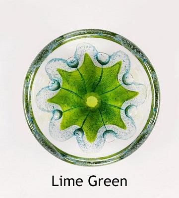 Foil Swedish Glass Bowl - Lime