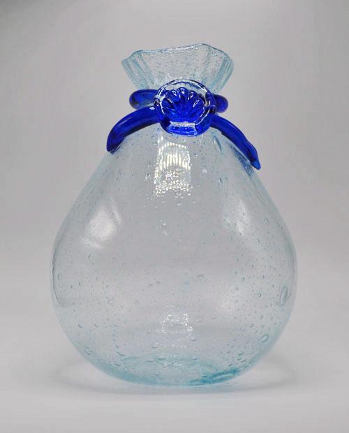 Bubbled Glass Vase - Shell Bag